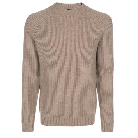 taupe sweater paul smith 39 s taupe merino wool ribbed sweater in