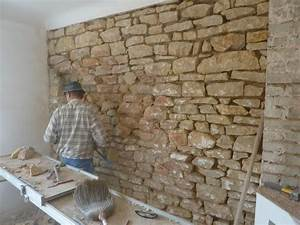 Mur En Pierre Interieur : comment construire un mur en pierre forum bricolage ~ Dailycaller-alerts.com Idées de Décoration