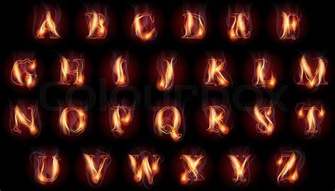 brennende buchstaben des lateinischen vektorgrafik