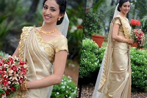 Wedding Accessories For Christian Bride : Engagement Dress For Kerala Christian Bride