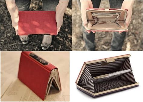 ideas  book purse  pinterest book clutch