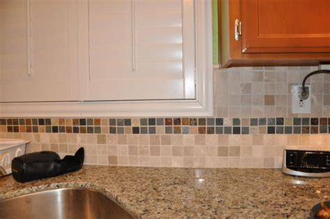 Golden Butterfly Kitchen with MosaicTile Backsplash