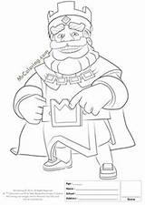 Clash Royale Coloring Pages King Clans Printable Birthday Beach Boom Info Sheets Happy 10th Sketch Drawings Template Mini Line Para sketch template