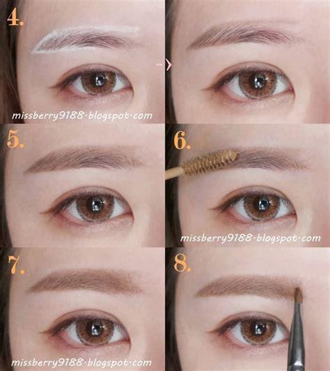 eyebrow korean tutorial buscar  google makeup