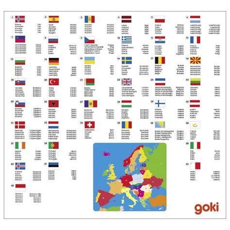 Carte Du Monde Avec Capitales Pdf by Carte Europe Goki Apprendre Les Pays Capitale Jeu 233 Ducatif
