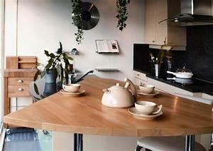 Cuisine Moderne En Bois : cuisine bar moderne clair en bois massif ~ Preciouscoupons.com Idées de Décoration