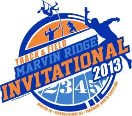 Invitational Track and Field T-Shirt Design