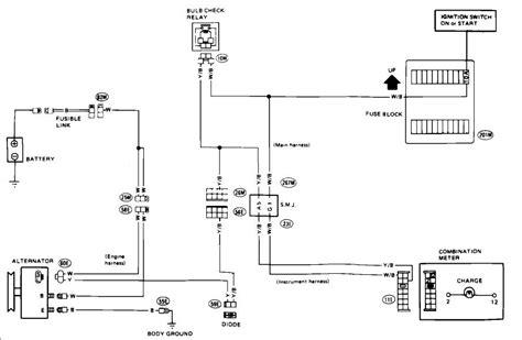 Nissan Altima Alternator Wiring Schematic Symbols Diagram