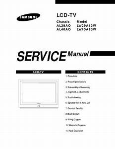 Samsung Lw29a13w Lw40a13w Tv Service Manual