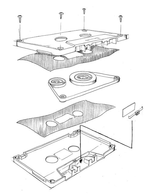 Diagram Of Audio Cassette by January 3rd Totems Sketchdaily