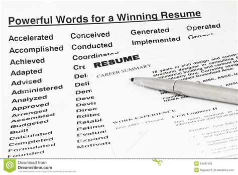 doc 1156 resume terminology 62 related docs www