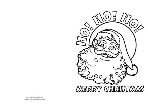 printable christmas coloring cards kids  images