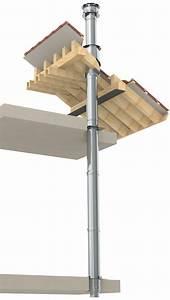 Conduit Cheminée Double Paroi : kit n 25 pour toit plat longueur 3 ml 180mm r f ~ Melissatoandfro.com Idées de Décoration