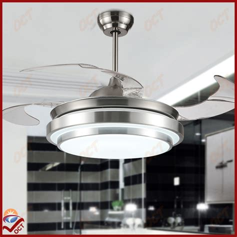 bedroom ceiling fans with lights and remote modern 85 265v led quiet luxury folding ceiling fan light