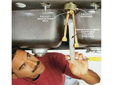 Kitchen  How To Change Kitchen Faucet With Washer How To