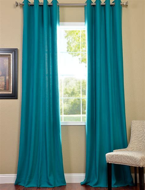 turquoise grommet cotenza curtain contemporary curtains san francisco   price drapes