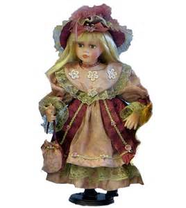 Impression de l'article : Poupée porcelaine 42cm robe rose ...