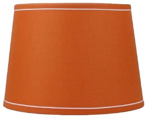 urbanest drum burlap lshades contemporary urbanest 12 quot drum with white trim lshade orange