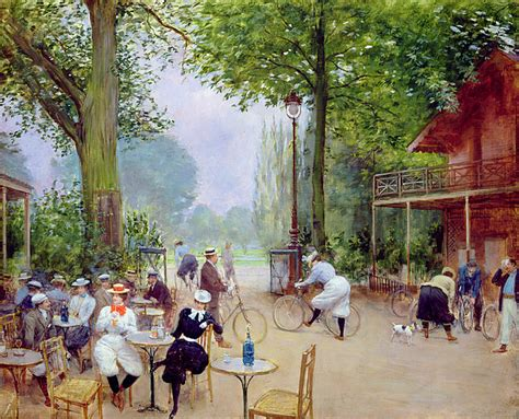 the chalet du cycle in the bois de boulogne painting by