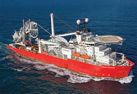Seven Oceans, pipelay vessel, part of Subsea 7 fleet ...