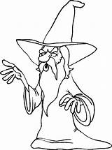 Wizard Coloring Pages Adult Printable Medieval Getcoloringpages sketch template