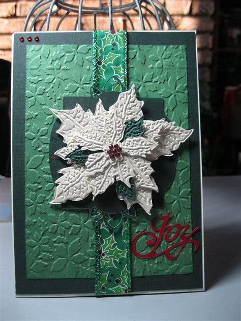 poinsettia  white scrapbookcom holiday cards cards