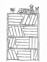 Coloring Bookshelf Bookcase Bible Template Sketch Place Templates sketch template