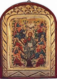 Jesus Tree of Life Hand-Painted Greek Orthodox Icon » Hand ...