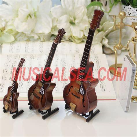 miniature wooden replica guitar decoration gift  kids