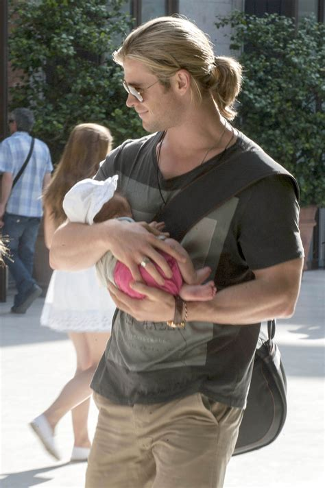 Chris Hemsworth Holds Baby India Rose In Madrid Todays
