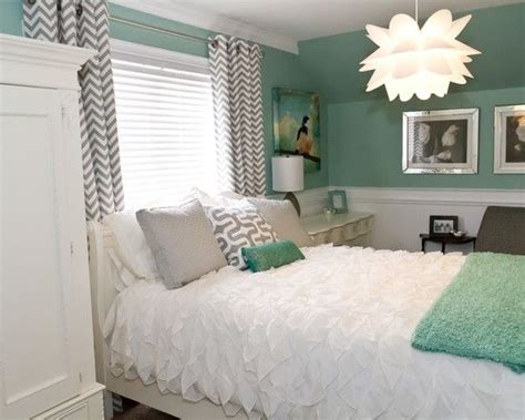 This A Cute Gray And Mint Green Bedroom I Personally Think