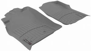 2010 toyota tacoma weathertech front auto floor mats gray With 2010 tacoma floor mats