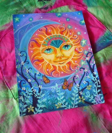 Sun and Moon Original Acrylic Painting 12 x by ...