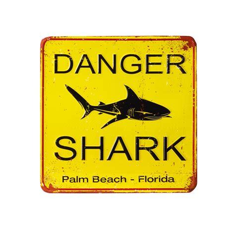 shark yellow metal decorative plaque maisons du monde
