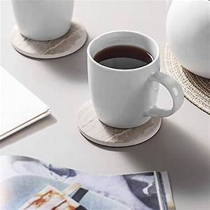 6, Pieces, Ceramic, Drink, Coasters, Absorbent, Stone, Set, Marble, Surface, Pattern