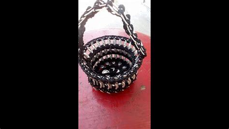 canasta dulcero tejido de anillas youtube