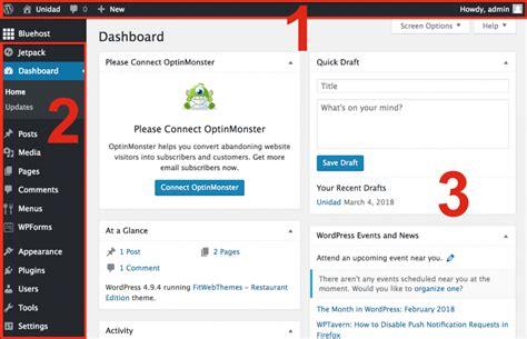 Wordpress Dashboard wordpress dashboard admin page 1024 x 659 · png