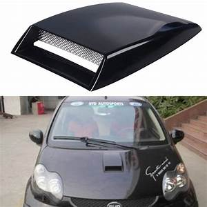 Scoop Auto : black silver white universal car stickers car decorative air flow intake scoop turbo bonnet vent ~ Gottalentnigeria.com Avis de Voitures