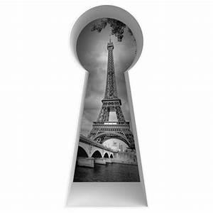 sticker vue sur paris pour decoration murale ou de porte With serrure paris