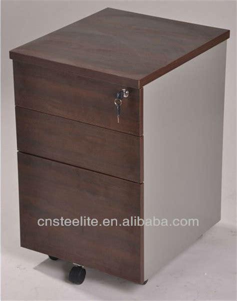 Desk Filing Cabinet On Wheels by Beige Mobile 3 Drawer Pedestal Cabinet Wood Desk