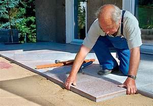 Betonplatten Verlegen Auf Erde : terrasse mit betonplatten steinterrasse ~ Whattoseeinmadrid.com Haus und Dekorationen