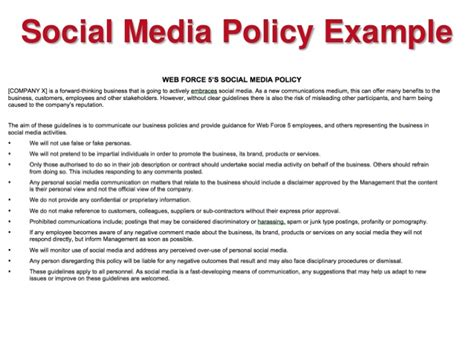 stunning corporate communications policy template ideas