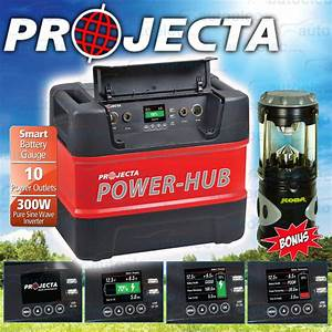 Projecta 12v 240v Power Hub 300w Sine Inverter Battery Box