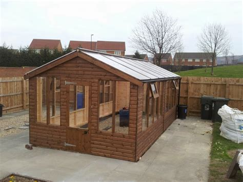 lean  timber greenhouse apex timber buildings