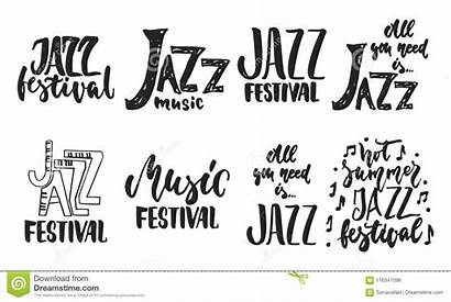 Jazz Quotes Drawn Festival Brush Lettering Ink