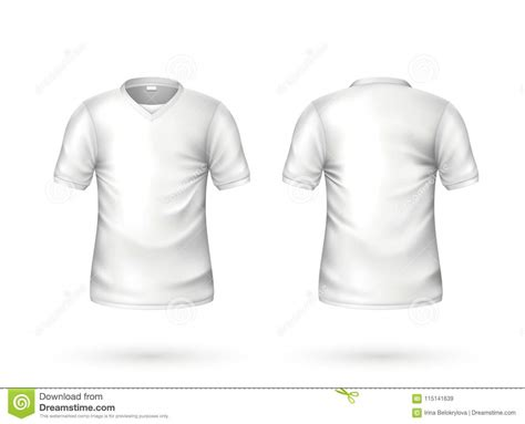 You can now use this male and female tshirt mockup to showcase your apparel design in a photorealistic look. Vector Realistic T-shirt White Blank Mockup Stock Vector ...