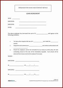 Personal Loan Agreement Template And Sample Related