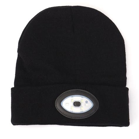 beanie with light sports running 6 led beanie knit hat rechargeable cap