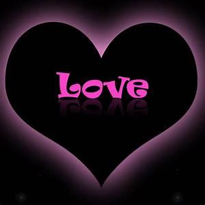 Love Heart Love Pink Purple Wallpaper #13482 Wallpaper ...
