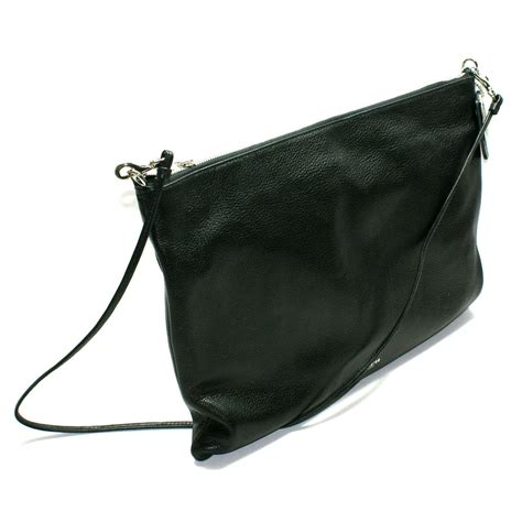 coach bleecker leather daily shoulder crossbody bag black  coach